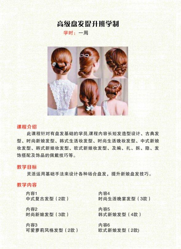 2017南京高级盘发提升课程