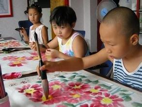 宁波绿孔雀美术国画课程