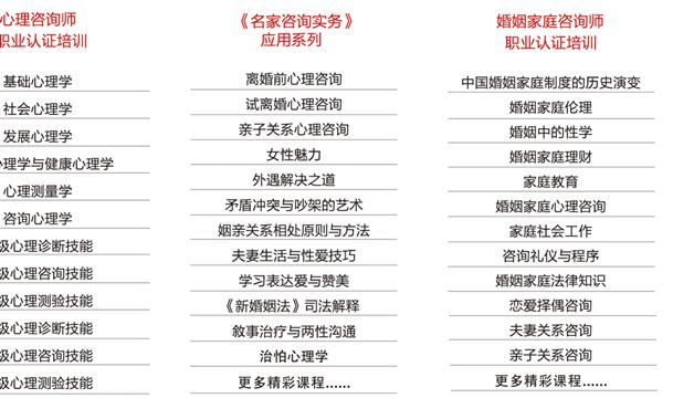 2017北京双认证咨询师职业网课