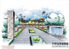 南京园林手绘培训、南京景观手绘培训,手绘表现全程班课程