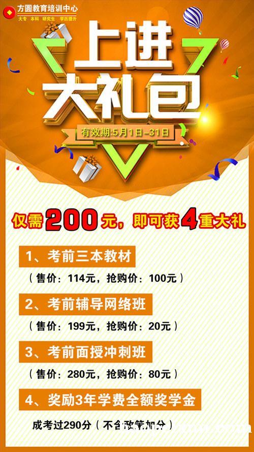 惠州市方圆教育成人高考,考前培训